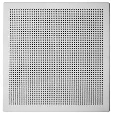Кассетный потолок алюминиевый АР600А6 квадратная перфорация белый